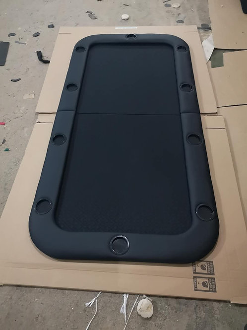 2m Black Bifold Rectangular Poker Table Top (Speed Cloth)