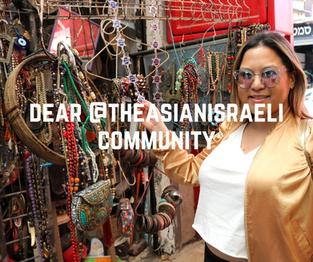 Dear @theasianisraeli community