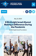 6 Birthright Alumni Makign a Difference During the Covid-19 Pandemic