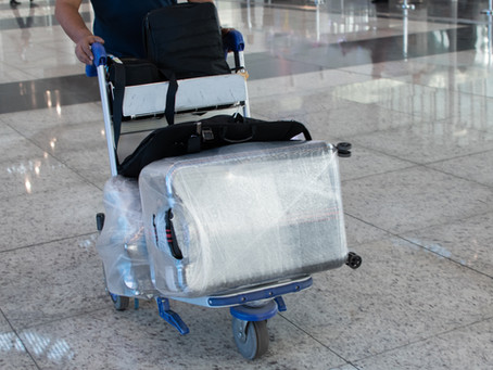 Compostable Luggage Wrapping