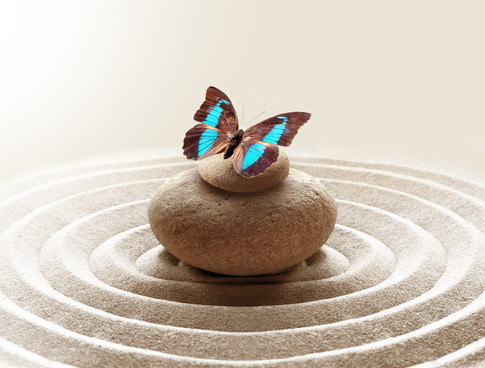 zen garden meditation stone background a