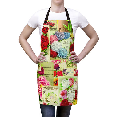 Apron- Vintage Garden Seed Packet Collage