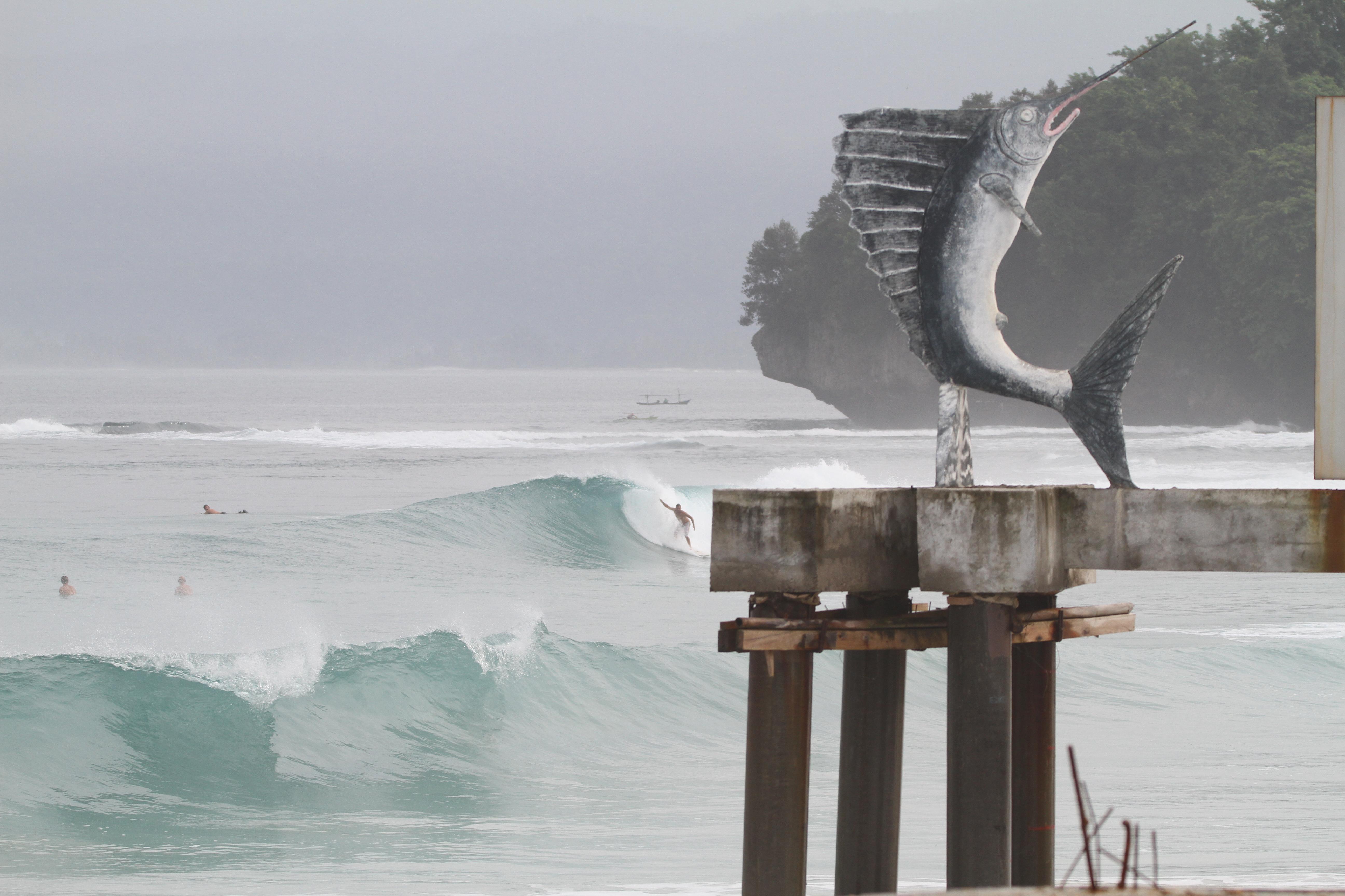 Krui Surf wave, Krui Right