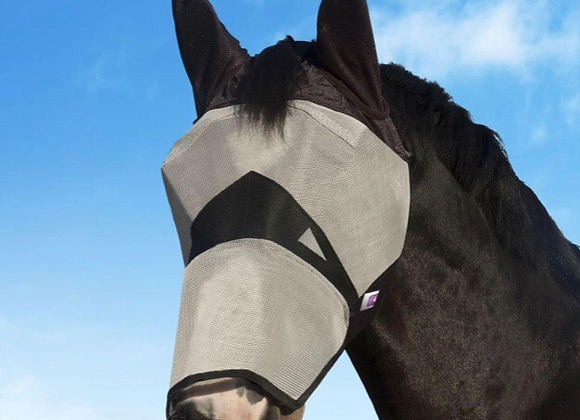 KM Fly Mask, Long with Ears
