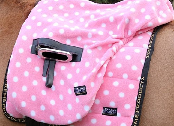 Supreme Products Ride on Dotty Fleece Saddle Cover
