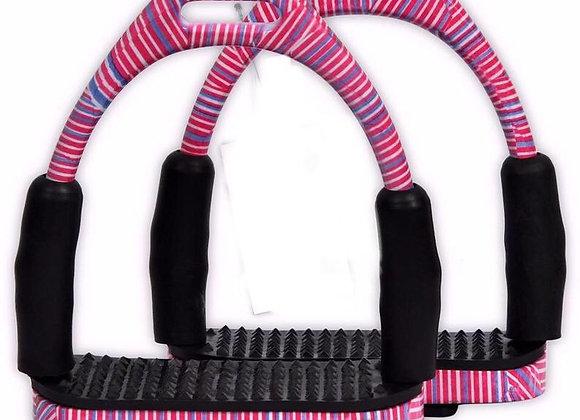 Striped Flexi Safety Stirrups