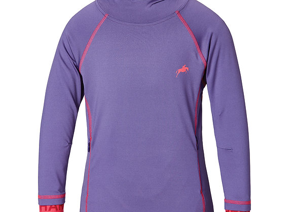 Harry Hall Junior Eddle Hoodie Purple