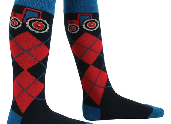 Hy Equestrian Childrens Tractors Rock Socks (Pack of 3)