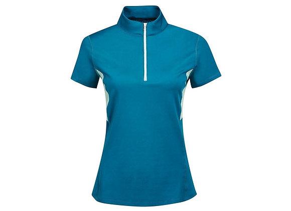 Dublin Blaze 1/4 Zip Short Sleeve Tech Training Top Blue Lagoon Ladies