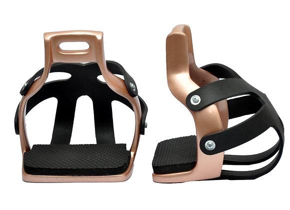 Endurance Caged Safety Stirrups with Aluminium Irons