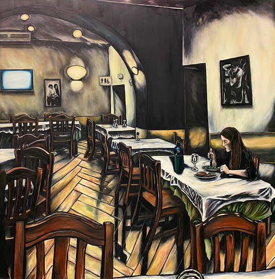 Woman alone, Sicily