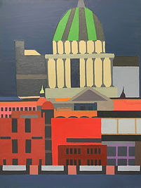 St.Pauls at Night. Oil on Canvas.91cmx61