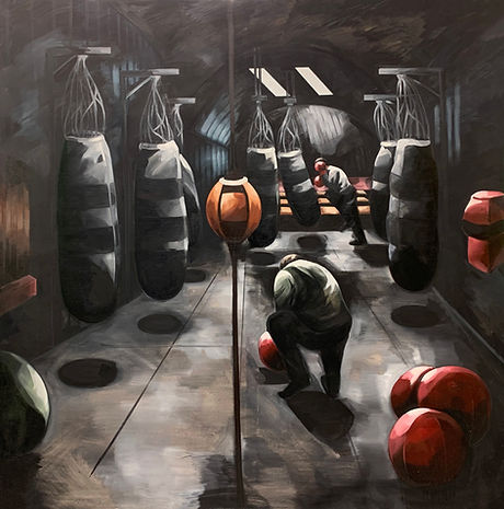 At the Gym I. Oil on Canvas.135cmx150cm.