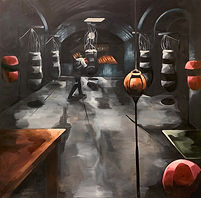 At the Gym II. Oil on Canvas.135cmx150cm