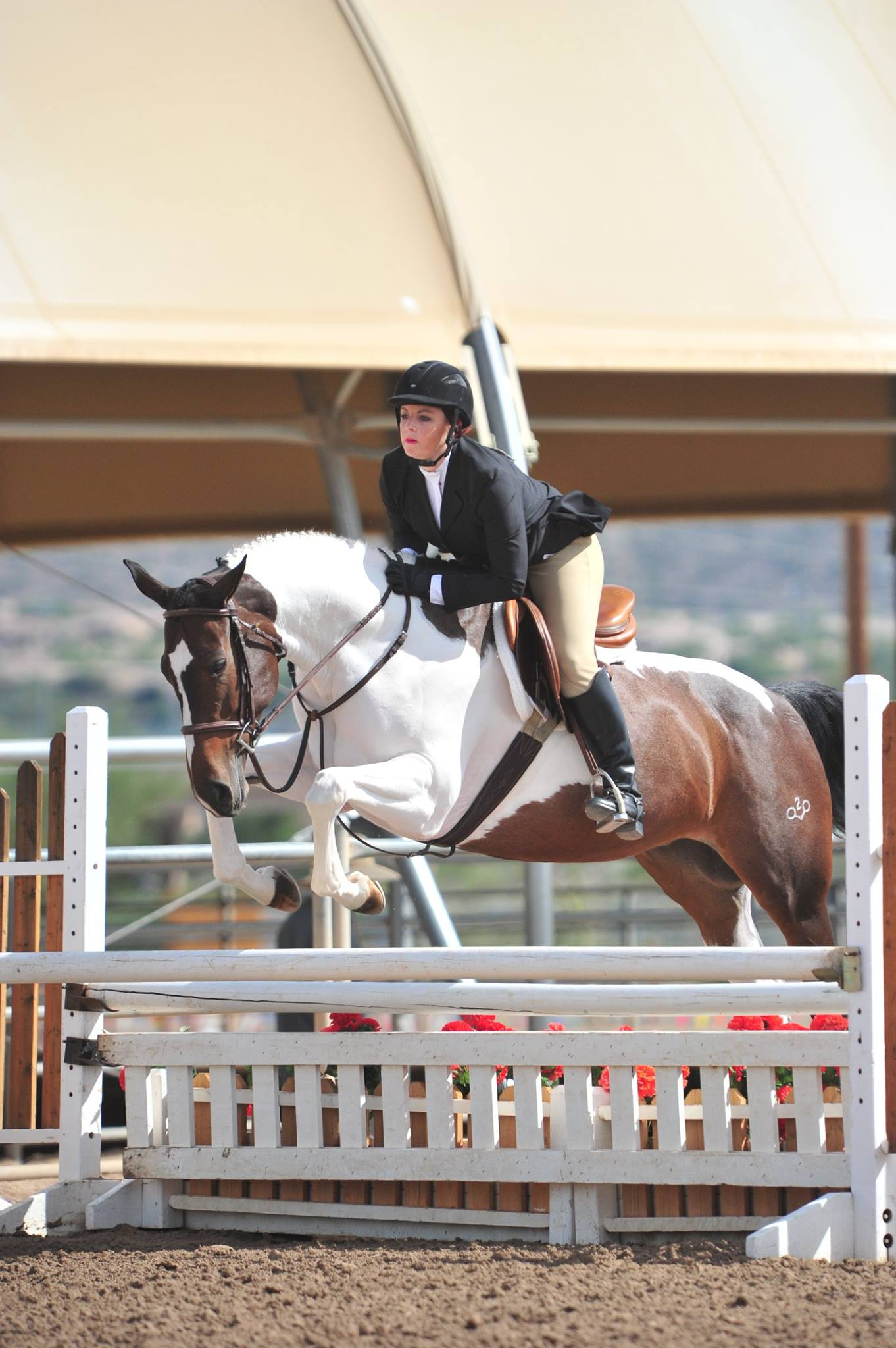Cassie & Ava in the hunter ring