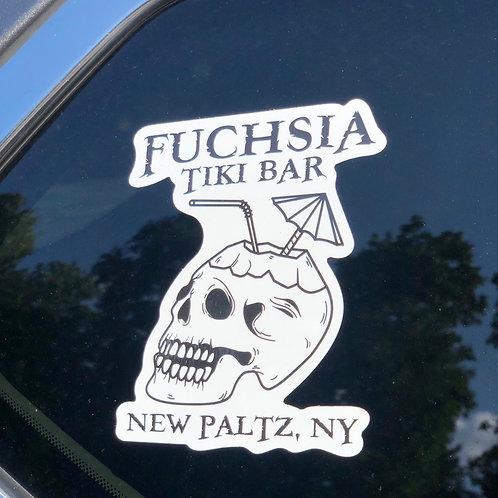 Coconut Skull Sticker