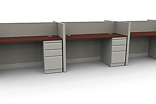 (6) BENCHING STYLE OPEN WORKSTATIONS- 2'X5'