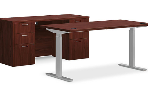 "FOUNDATION, 60""W SIT-TO-STAND & CREDENZA"