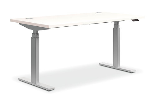 """60""""W X 30""""D, SIT-TO-STAND TABLE in WHITE, 3-STAGE"""