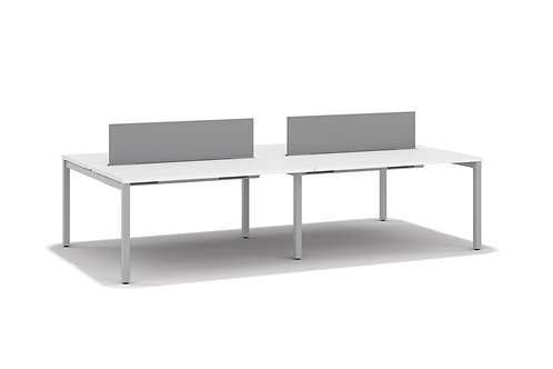 (4) SIMPLE SHARED WORK TABLE SET- 2'X5'