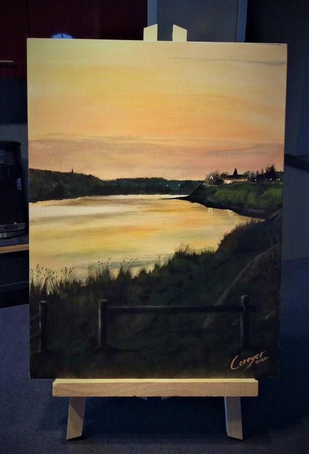 """paysage, :""""St martin de la place"""""""
