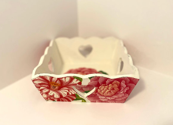 Handmade Decoupage Wooden Box - Flower