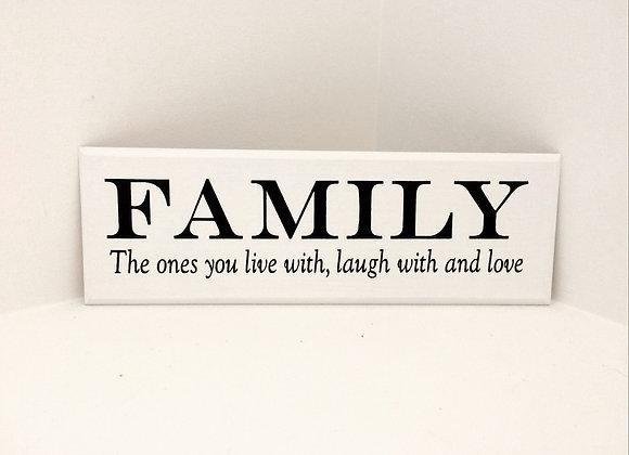 Family Handpainted Plaque