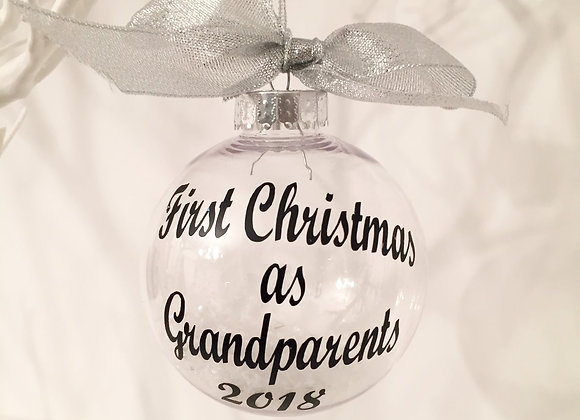 Clear Hanging Bauble - Grandparents