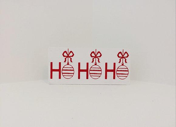 Handpainted Wooden Shelf Sitter - Ho Ho Ho