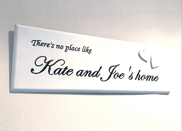 Handpainted Wooden Plaque - No Place Like Home