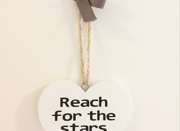 Small Wooden Hanging Heart - Various
