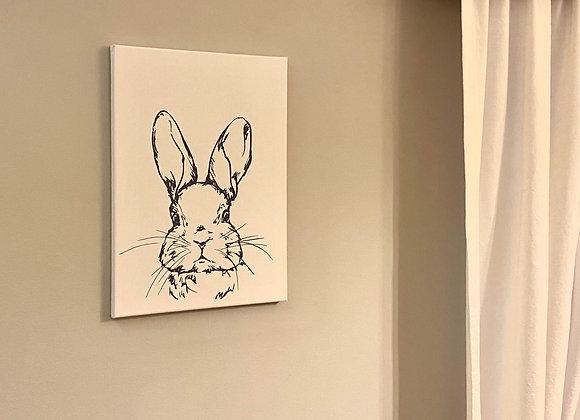 Handpainted Hare Art Print