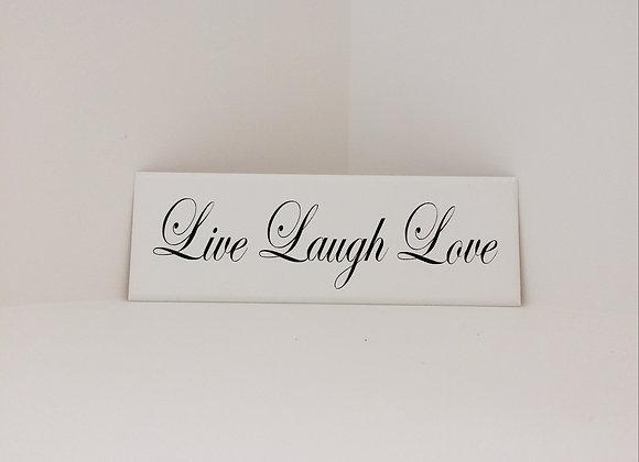Handpainted Wooden Plaque - Live Laugh Love