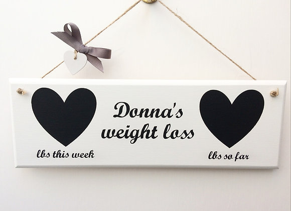 Handpainted Weight Loss Plaque