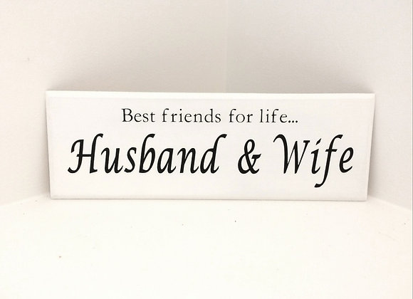 Husband & Wife Wooden Plaque