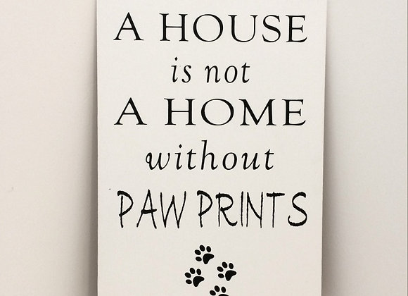 Pawprints - Handpainted Sign