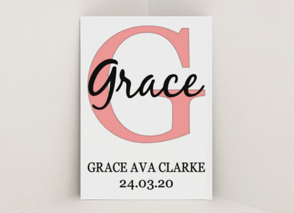 Personalised Initial Sign