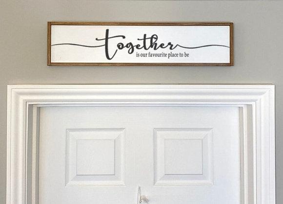 Farmhouse Style Wood Framed Sign
