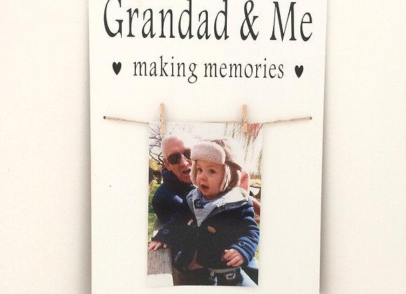 Grandad & Me Photo Frame