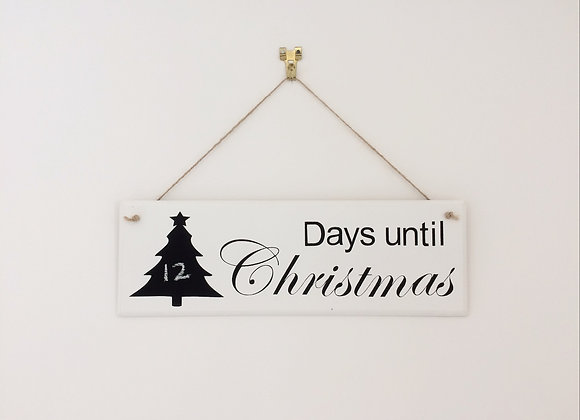 Countdown to Christmas Hanging Sign