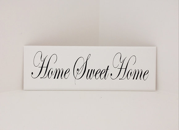 Handpainted Wooden Plaque - Home Sweet Home