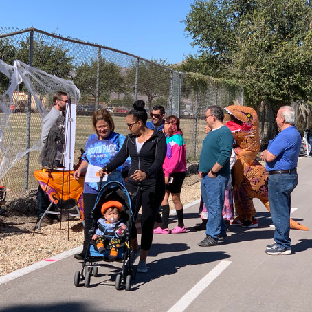 Playa Drain Trail Users Say Boo to Cancer