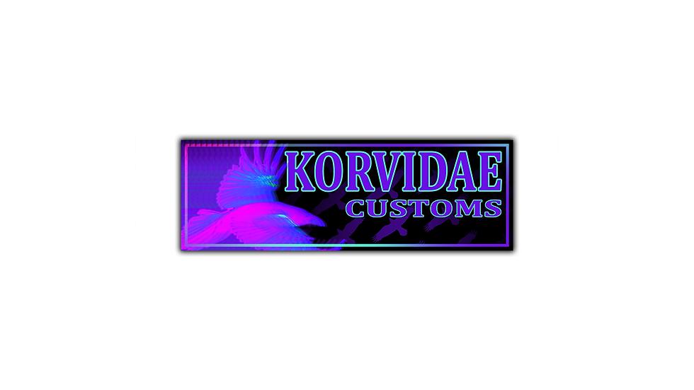 Korvidae Customs Holographic Slap Sticker(FIRST EDITION)