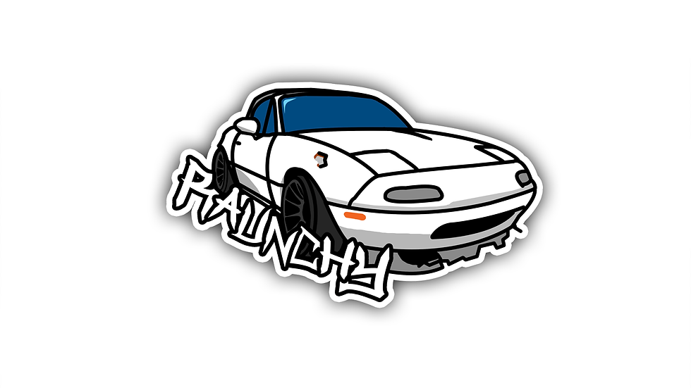 LIMITED EDITION (Raunchy Miata) Die-cut Sticker