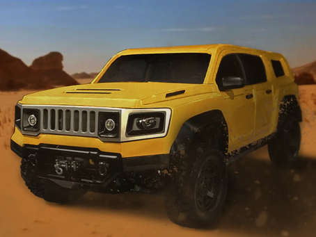 The HUMMER H4 is Electric