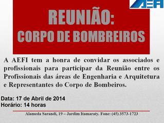 REUNIÃO COM O CORPO DE BOMBEIROS