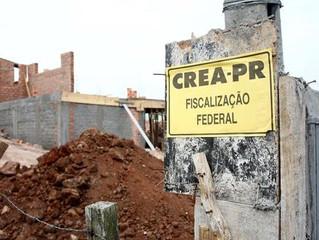 Infrações detectadas na fiscalização do CREA-PR serão autuadas sem notificação prévia