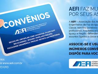 AEFI FIRMA CONVÊNIOS COM BENEFÍCIOS AOS ASSOCIADOS