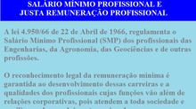 SALÁRIO MÍNIMO PROFISSIONAL