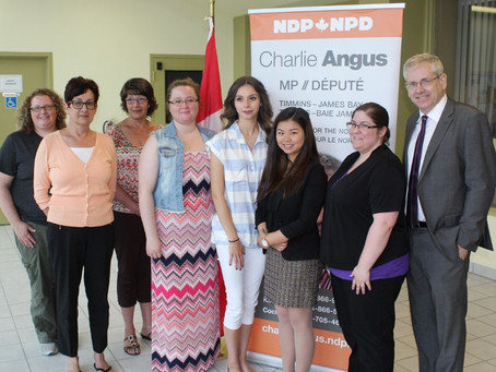 STUDENTS WORKING IN TIMMINS-JAMES BAY: Local Agencies Benefit From Canada Summer Jobs